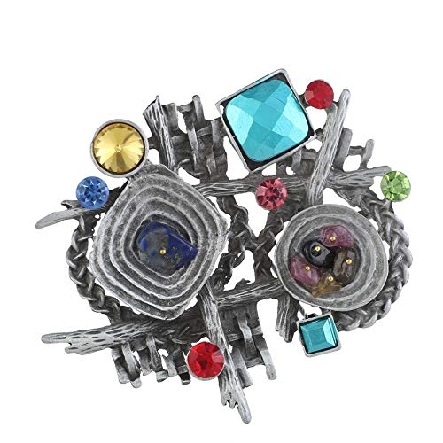 SKZKK Vintage Crystal Irregular Brooch Pins for Women Inlay Color Stone Brooch Pins for Clothing,Collar Jewelry for Women Scarf Pins Fashionable from SKZKK