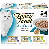 Purina Fancy Feast Grilled Seafood Collection Gourmet Wet Cat Food Variety Pack - (24) 3 oz. Cans