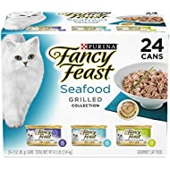 Purina Fancy Feast (50000575466 Grilled Seafood Collection Wet Cat Food Variety Pack (24) 3 oz. Cans