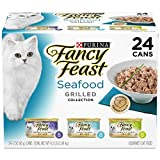 #10: Purina Fancy Feast (50000575466 Grilled Seafood Collection Wet Cat Food Variety Pack (24) 3 oz. Cans