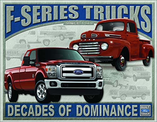 Desperate Enterprises Ford F-Series Trucks Tin Sign, 16