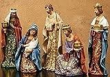 Roman 5 Piece 8'' Goldleaf Nativity Figures with Papercut Design #30849