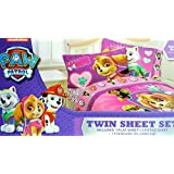 Nickelodeon Paw Patrol Twin Sheet Set Featuring Skye, Everest and More