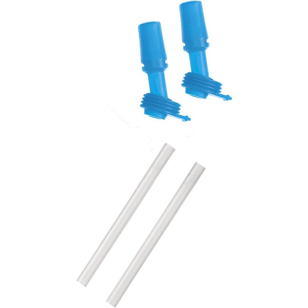CamelBak Kids Bottle Accessory 2 Bite Valves/2 Straws (Blue)