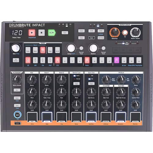 Arturia DrumBrute Impact Drum Machines includes Free Wireless Earbuds - Stereo Bluetooth In-ear and 1 Year Everything Music Extended Warranty by Arturia (Image #2)