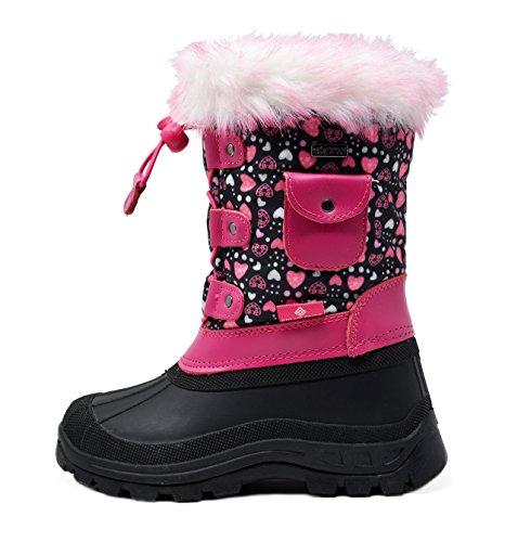 DREAM PAIRS Little Ksnow Pink Waterproof Boots