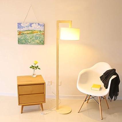 SXFYHXY Lámpara de pie LED Moderno Madera Maciza 7-Forma de ...