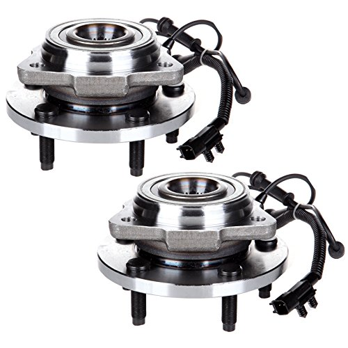 SCITOO Compatible with Both(2) 513272 New Front Wheel Hub Bearing Assembly fit 2007-2009 Jeep Wrangler 5 Lugs w/ABS