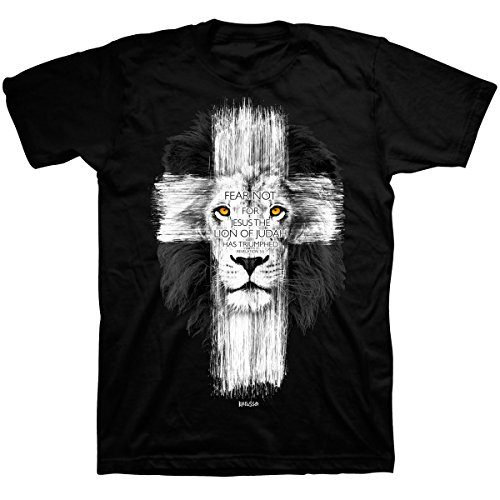 - Lion Cross, Tee, 2X, Black - Christian Fashion Gifts