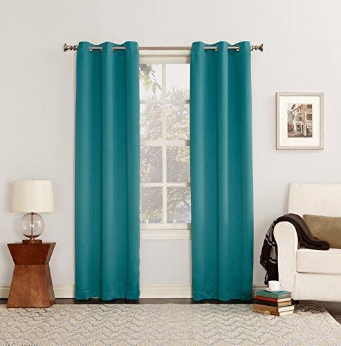 2 Pack Sun Zero Blackout Window Grommet Curtain Panel Marine