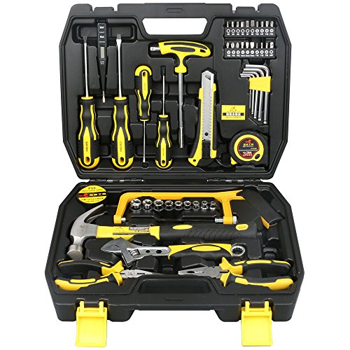 DOWELL 48 Pieces Homeowner Tool Set , Home Repair Hand Tool Kit with Plastic Tool box Storage Case - Home Repair Tool Kit