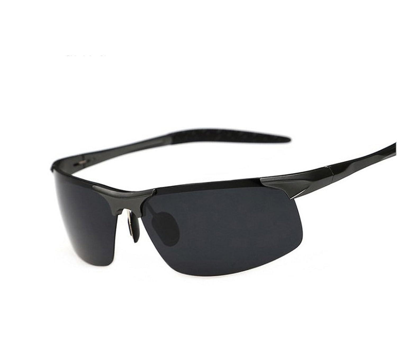 Herren Sonnenbrille Polarisiert Half Frame Fashion Sunglasses ...
