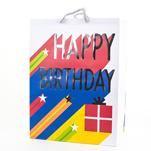 Hallmark Oversized Gift Bag for Birthdays, Parties and More (Happy Birthday - Birthday Gift Giant Bag