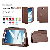 Mulbess Brown Leather Stand Case Cover for Samsung Galaxy Note 8.0 Gt-n5100 Wifi 4g Ltetablet