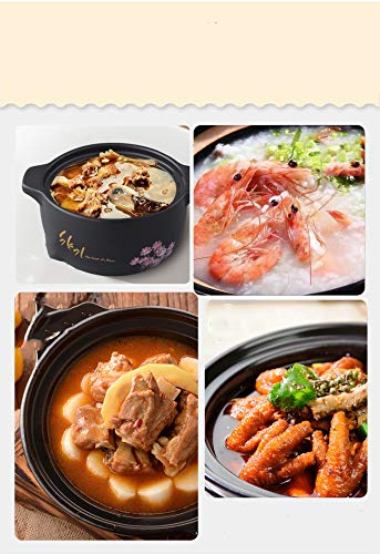 GJJ High Temperature Heat-.Resistant Ceramic Soup Pot Casserole, Natural Health Casserole, Pot Ceramic Pot,Black,3 Liters by GJJ (Image #4)