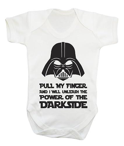 bd77f211b8b1b Body amusant Star Wars Darth Vader blanc blanc 0-3 mois  Amazon.fr ...
