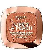 L'Oréal Paris Rouge poeder met lichtreflecterende pigmenten voor een perzikkleurige gloed, Life's a Peach Blush, nr. 01 - Life's a Peach, 1 x 9 g