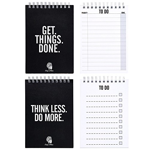 CHIEFS & TRIBES To Do List Double Pack I Notebooks with total 100 tear off Pages I Reminder Cards I 4.1 x 5.8 inches each Notepad I Made in Germany