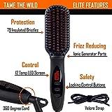 Tame's Elite Beard Straightener Brush - Anti-Scald