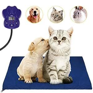 UOKOO- Almohadilla de calefacción para Mascotas, Calentador eléctrico, para Perros, Gatos,