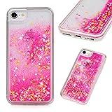 iPhone 8 Case, iPhone 7 Clear Liquid Glitter Case