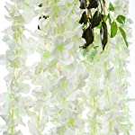 Pauwer-12-Pack-432-FT-Artificial-Wisteria-Vine-Ratta-Fake-Wisteria-Hanging-Garland-Silk-Long-Hanging-Bush-Flowers-String-Home-Party-Wedding-Decor-White