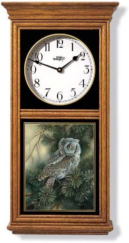 Screech Owl Canvas Clock by Rosemary Millette