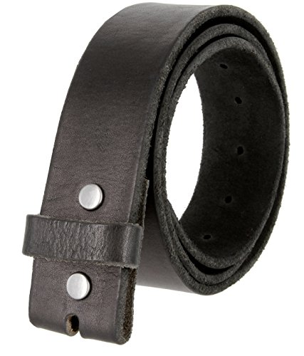 Leather Belt Black Distressed - BS-40 Vintage Style Full Grain 100% Leather 1-1/2