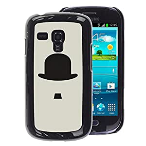 Planetar® ( Chaplin Movie Old Classic ) Samsung Galaxy S3 mini (NOT FOR S3) / i8190 / i8190N Fundas Cover Cubre Hard Case Cover