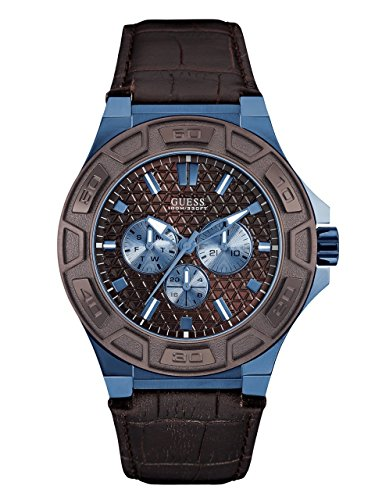GUESS-Mens-Brown-and-Blue-Masculine-Style-Watch