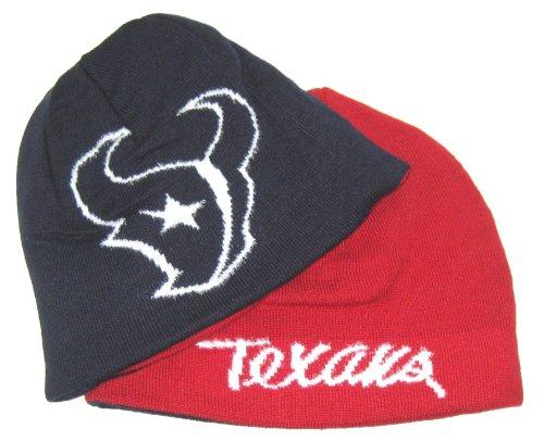- Reebok Houston Texans NFL Women's Team Apparel Reversible Navy & Red Cuffless Beanie Hat