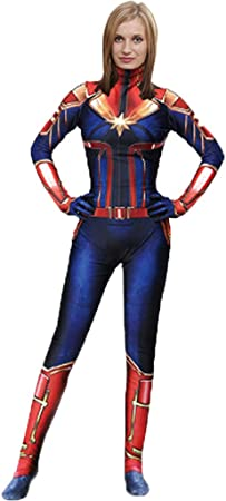 Qweaszer Marvel Avengers Movie Captain Marve Bodysuit Spandex Jumpsuits Captain Marvel Fancy Dress Costume Women S Christmas Halloween Show Cosplay Costumes Blue 130 140cm Amazon Co Uk Kitchen Home Marvel comics group is an american company that publishes comic books and related media. qweaszer marvel avengers movie captain marve bodysuit spandex jumpsuits captain marvel fancy dress costume women s christmas halloween show cosplay