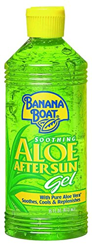 Banana Boat Aloe Vera Sun Burn Relief Sun Care After Sun Gel - 16 Ounce (Pack of 3) (Spray Gel Vera Aloe)