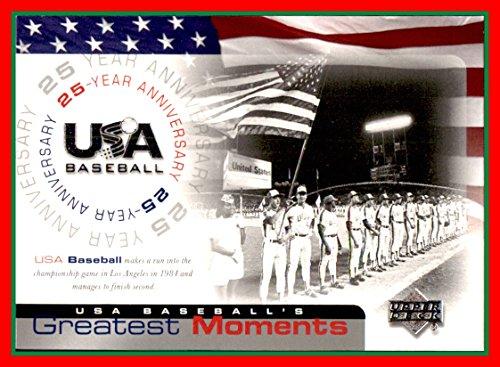 2004 Upper Deck Team USA Baseball 25th Anniversary #186 1984 Los Angeles olympics