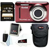 Kodak PIXPRO Friendly Zoom FZ53 (Basic Bundle, Red)