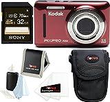 Kodak PIXPRO Friendly Zoom FZ53 (Red) (Basic Bundle)