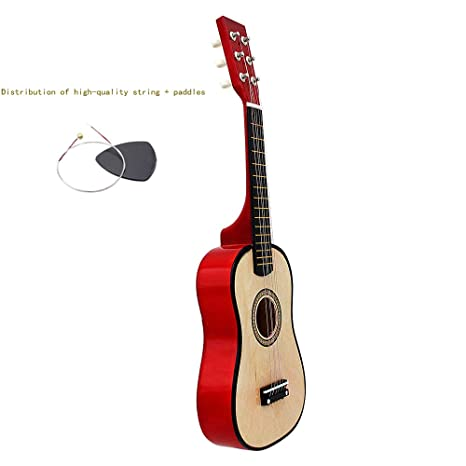 WEIGZ Guitarra de Juguete para niños de Seis Cuerdas de Madera de ...