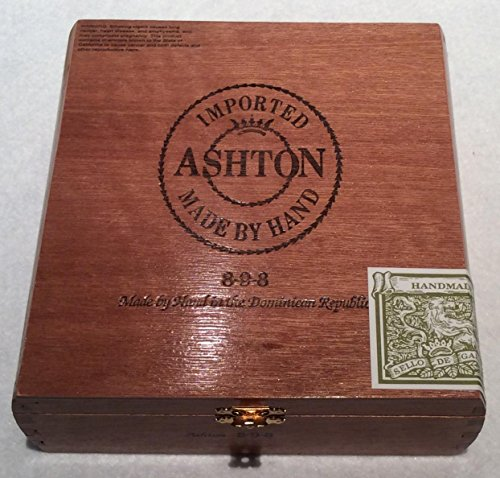 Ashton Empty Cigar Box Caribbean Mahogany Finger Joint construction