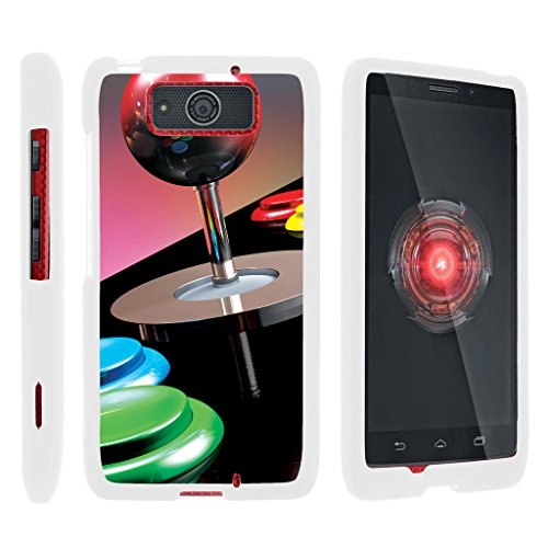 TurtleArmor | Motorola Droid Maxx Case XT1080 | Droid Ultra Case XT1080M [Slim Duo] Smooth Matte Hard 2 Piece Shell Compact Snap On Cover on White Gaming Design - Joystick