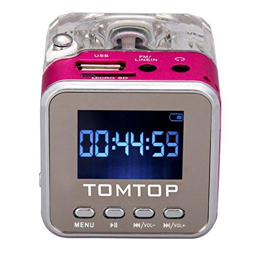 204 opinioni per Andoer Mini Digital Altoparlante Portatile di Musica MP3/4 Player TF USB Disk FM
