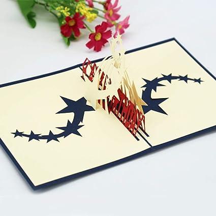 Tarjeta De FelicitacióN Emergente En 3D Tarjeta De ...