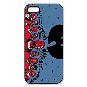 Custom American hip hop group The Wu-Tang Clan iPhone 5,5S Hard Plastic Shell Case Cover White&Black(HD image)