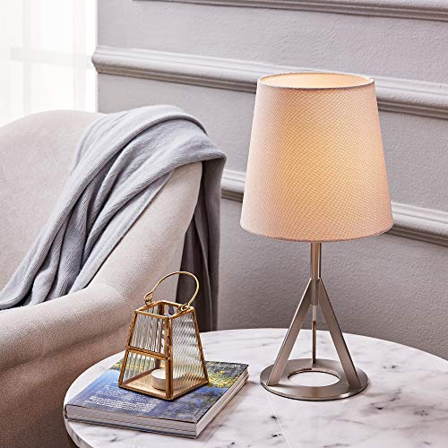 - Versanora VN-L00066K Aria Table Lamps, Khaki/Nickle Brass Finish