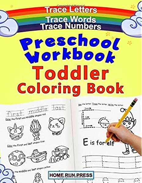 - Preschool Workbook Toddler Coloring Book: Pre K Activity Book, Pre  Kindergarten Workbook Ages 4 To 5, Coloring Book For Kids Ages 4-8, Math:  Home Run Press, LLC: 9781952368073: Amazon.com: Books