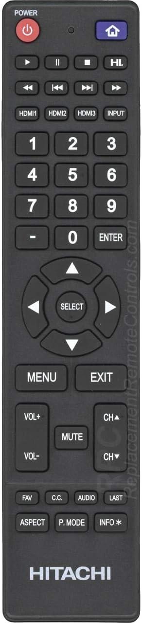 Amazon Com Hitachi 850125633 Tv Remote Control Home Audio Theater