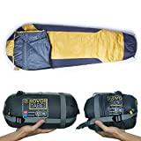 Rovor Tabei 52 Degree Mummy Backpacking Sleeping Bag with Included Stuff Sack | the Tabei Sleeping Bags for Adults have a 52 Degree Comfort Rating Which Allows for Multi-Season Use