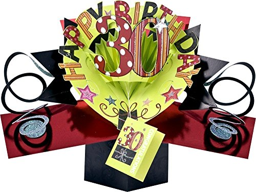 Pop Ups - Happy 30th Birthday greeting card wishes Pop Ups 3D