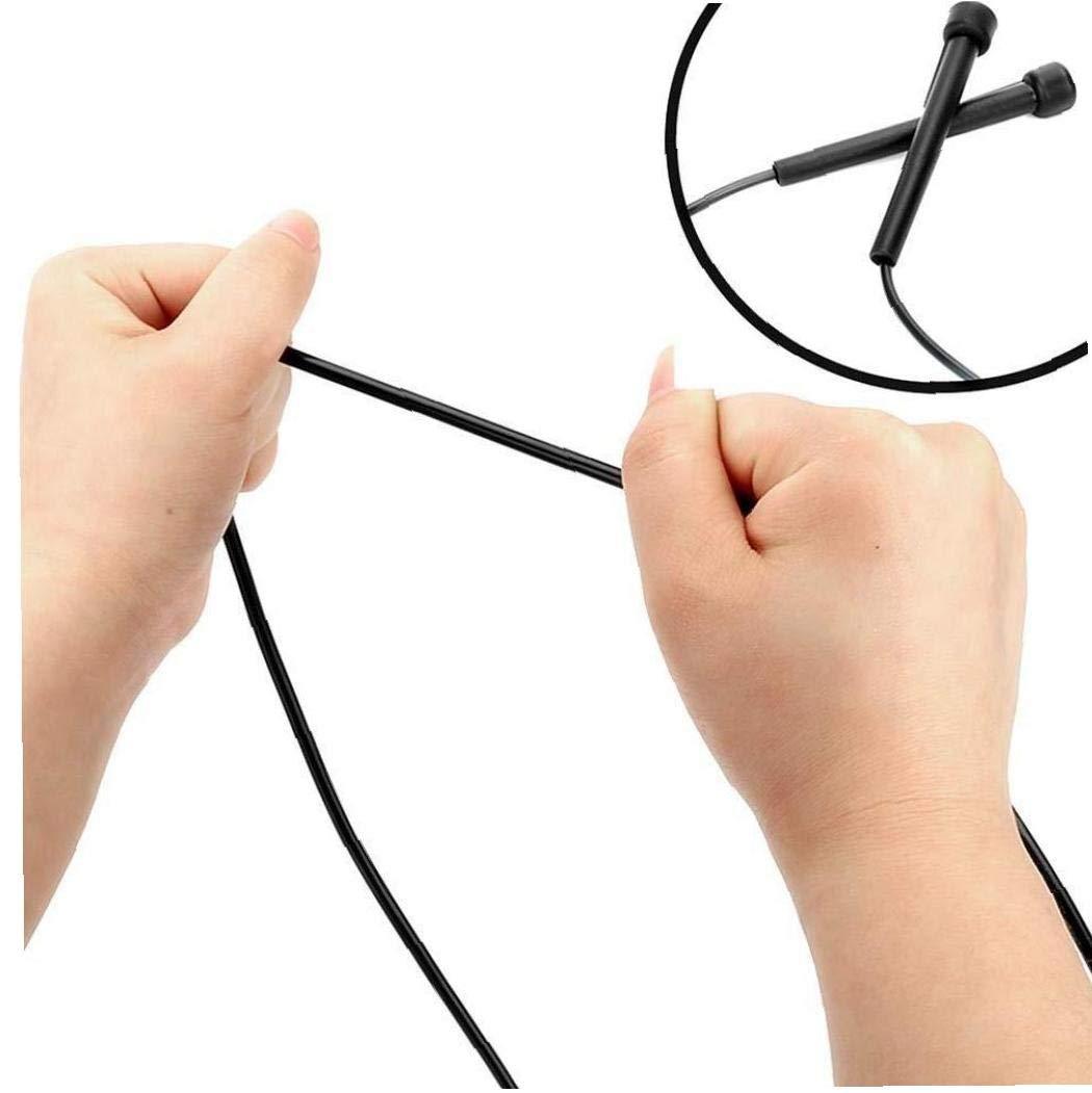 Dorime I Bambini 3m // 10ft-Nero i Bambini Salto di Forma Fisica Studente Corda Salto in Alto Regolabile con Manico Neutro Sport di Esercitazione di Ginnastica per Adulti Boxe Salto Veloce