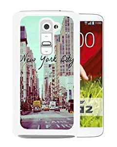 Hot Sale LG G2 Case, Vintage New York City White LG G2 Cover Unique And High Quality Designed Phone Case