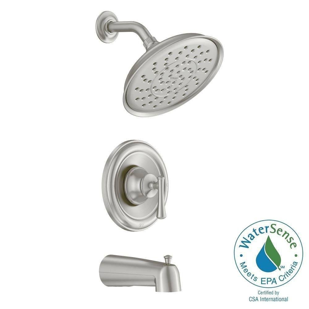 Moen 82877SRN Posi-Temp Pressure Balanced Tub and Shower Trim, Spot Resist Brushed Nickel by Moen B00FK8OGWU  Spot Resist Brushed Nickel